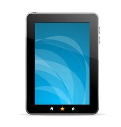 Black tablet like Ipade on white background vector