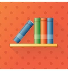 Bookshelf cartoon vector
