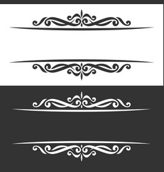 borders for greeting text vector image