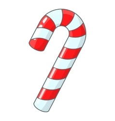 Candy cane for Christmas icon cartoon style vector image