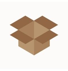 Cardboard box waste flat concept vector