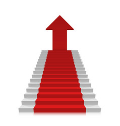 career ladder to the top vector image