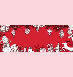 cartoon banner for holiday theme on winter vector image
