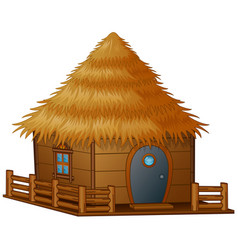 cartoon hut on a white background vector image