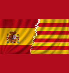 Catalonia vs spain - independence vector