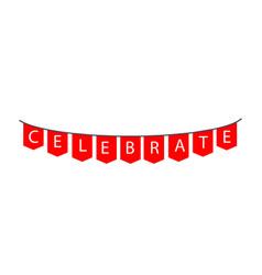 Celebrate template design vector