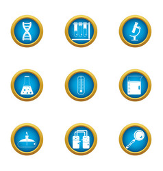 Chemical intervention icons set flat style vector