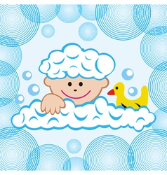 Child in the bathroom vector image
