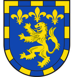 Coat of arms bad ems in rhein-lahn-kreis of vector