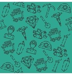 Colored Mining pattern vector image