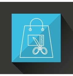 Commerce discount coupon money icon vector