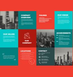 Company profile template vector