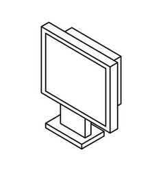 computer screen 3d vector image