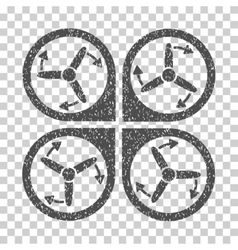 Copter Screws Rotation Grainy Texture Icon vector