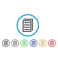 document pages rounded icon vector image