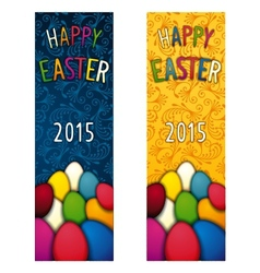 Easter holiday flyer vector image