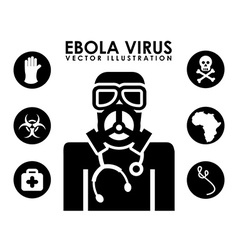 ebola design vector image