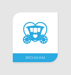 Editable filled brougham icon from wedding icons vector