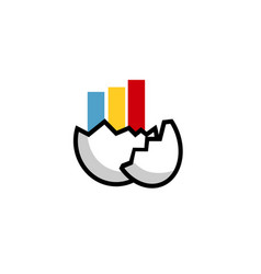 egg trend logo vector image