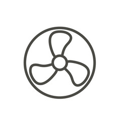 fan icon line fresh air symbol vector image