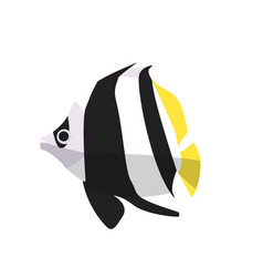 Fish icon flat ocean or sea vector