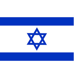 flag of israel national symbol of the state vector image