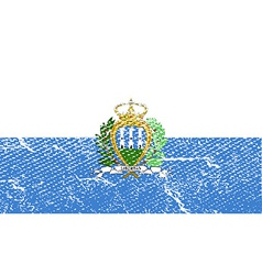 Flag of San Marino with old texture vector image