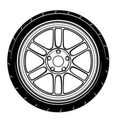 Flat car wheel 1 vector