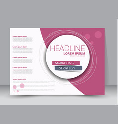 flyer brochure billboard template landscape vector image
