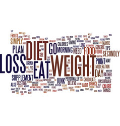 foods to supplement your weight loss diet text vector image