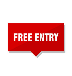 Free entry red tag vector