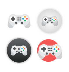 game controller icon vector image