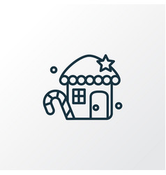 Gingerbread house icon line symbol premium vector