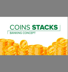 gold coins making money financial vector image
