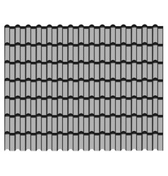 group of gray tiles roof pattern background vector image