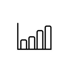 growing graph line icon in flat style for app ui vector image