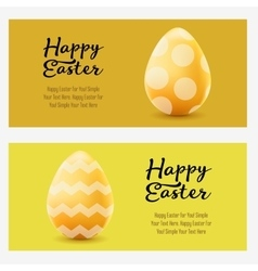 Happy Easter greeting horizontal landscape banners vector