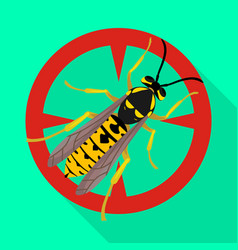 Hornet iconflat icon isolated vector