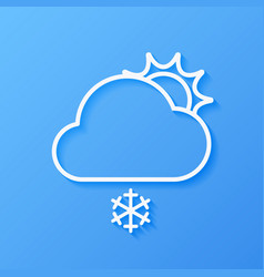 Icon weather sun and cloud vector