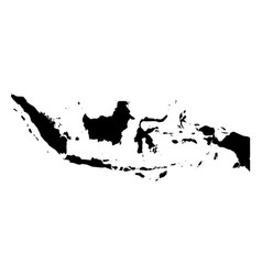indonesia - solid black silhouette map of country vector image