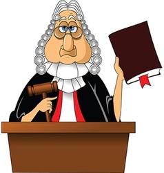 Judge cartoon vector