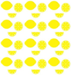 lemon patternCitrus pattern background vector image