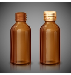 Medicine Syrup Bottle vector image