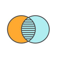 Merging symbol color icon vector