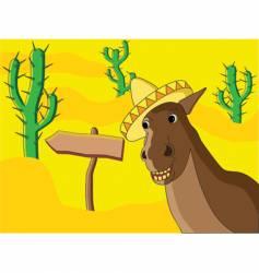 Mexican horse vector image
