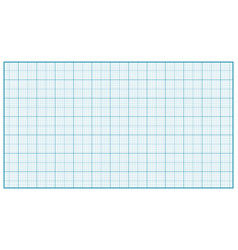 millimeter paper blue graphing paper for vector image