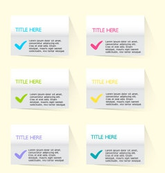 Modern inforgraphic template vector image
