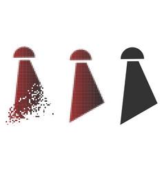 Moving dot halftone spray icon vector