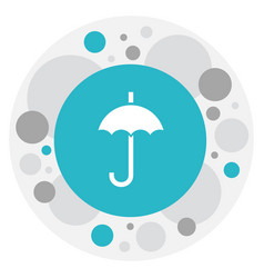 of climate symbol on umbrella vector image
