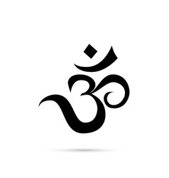 om sign vector image
